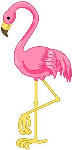 Flamingo clip art.