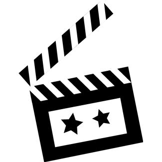 Image of Clapboard Clipart Movie Flap Clip Art Vector Movie.