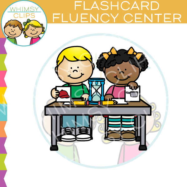 Flash Card Fluency Center Clip Art.