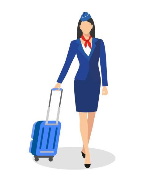 Best Flight Attendant Illustrations, Royalty.