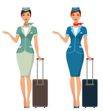 2,892 Flight Attendant Cliparts, Stock Vector And Royalty Free.