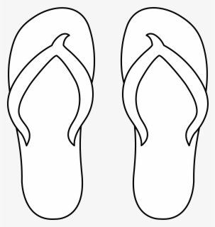 Free Flip Flop Black And White Clip Art with No Background.