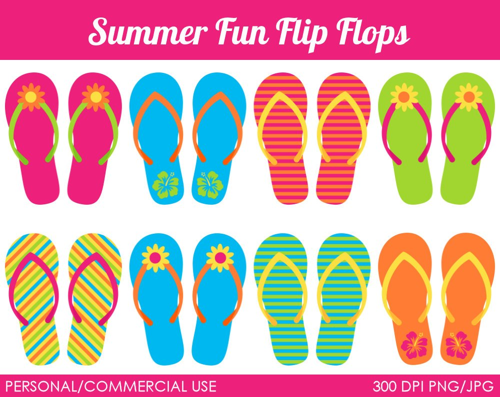 Clipart flip flops summer 1 » Clipart Portal.