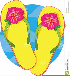 Clipart Flip Flops Summer.
