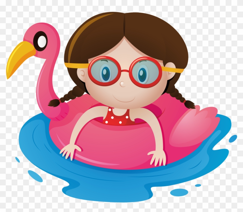 Child Clipart Swimming Pool.