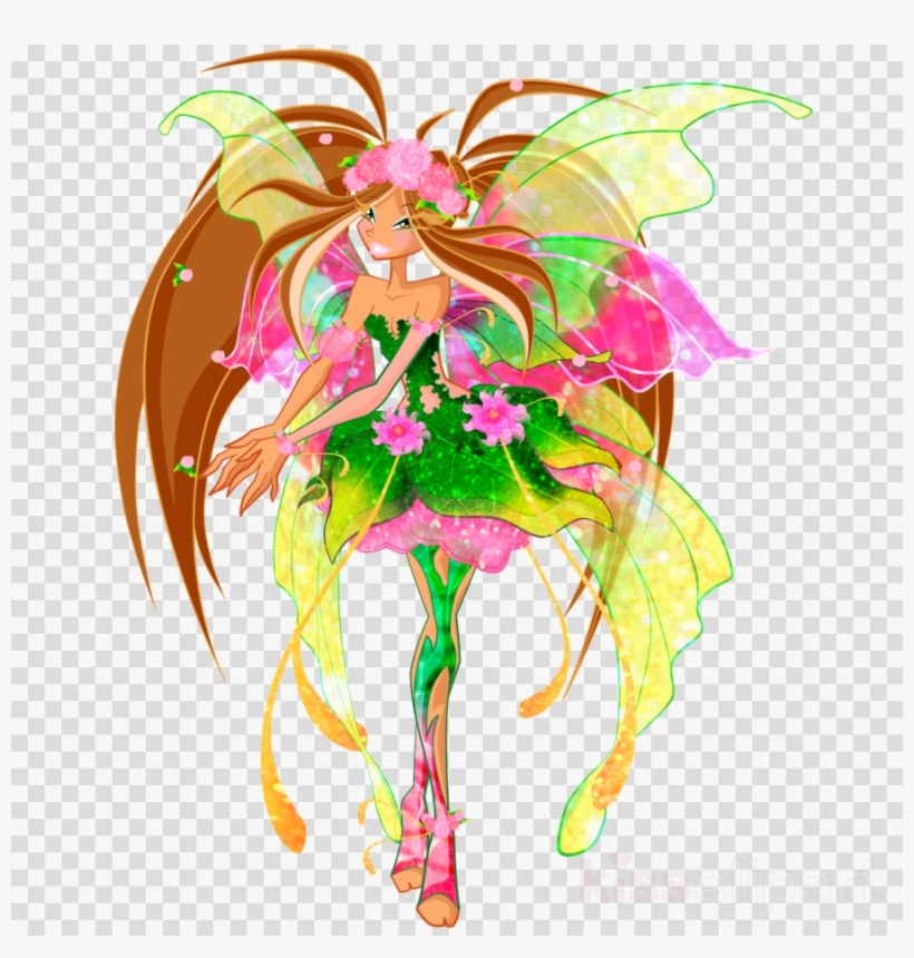 Winx Club Clipart Flora Bloom Tecna.