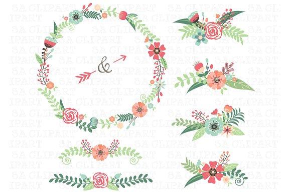 Wedding Floral Clipart ~ Illustrations on Creative Market.