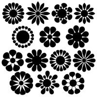 Simple Flower Free Vector Art.