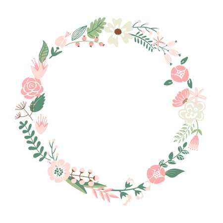 67,046 Flower Wreath Stock Illustrations, Cliparts And Royalty Free.