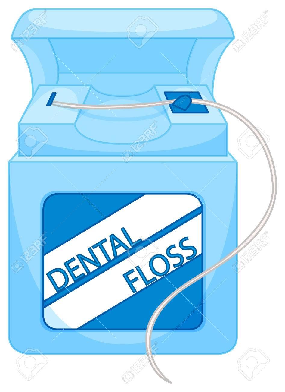 Box of dental floss illustration.