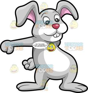 The Easter Bunny Dancing The Floss.