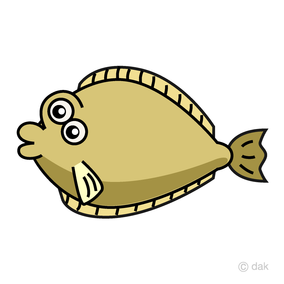 Cute Flounder Clipart Free Picture|Illustoon.