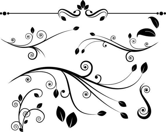 Decorative flourish clipart.