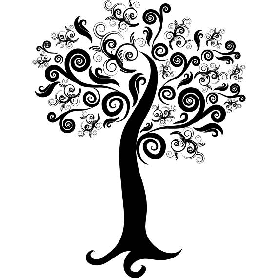 Tree Flourish Clipart & Clip Art Images #14317.