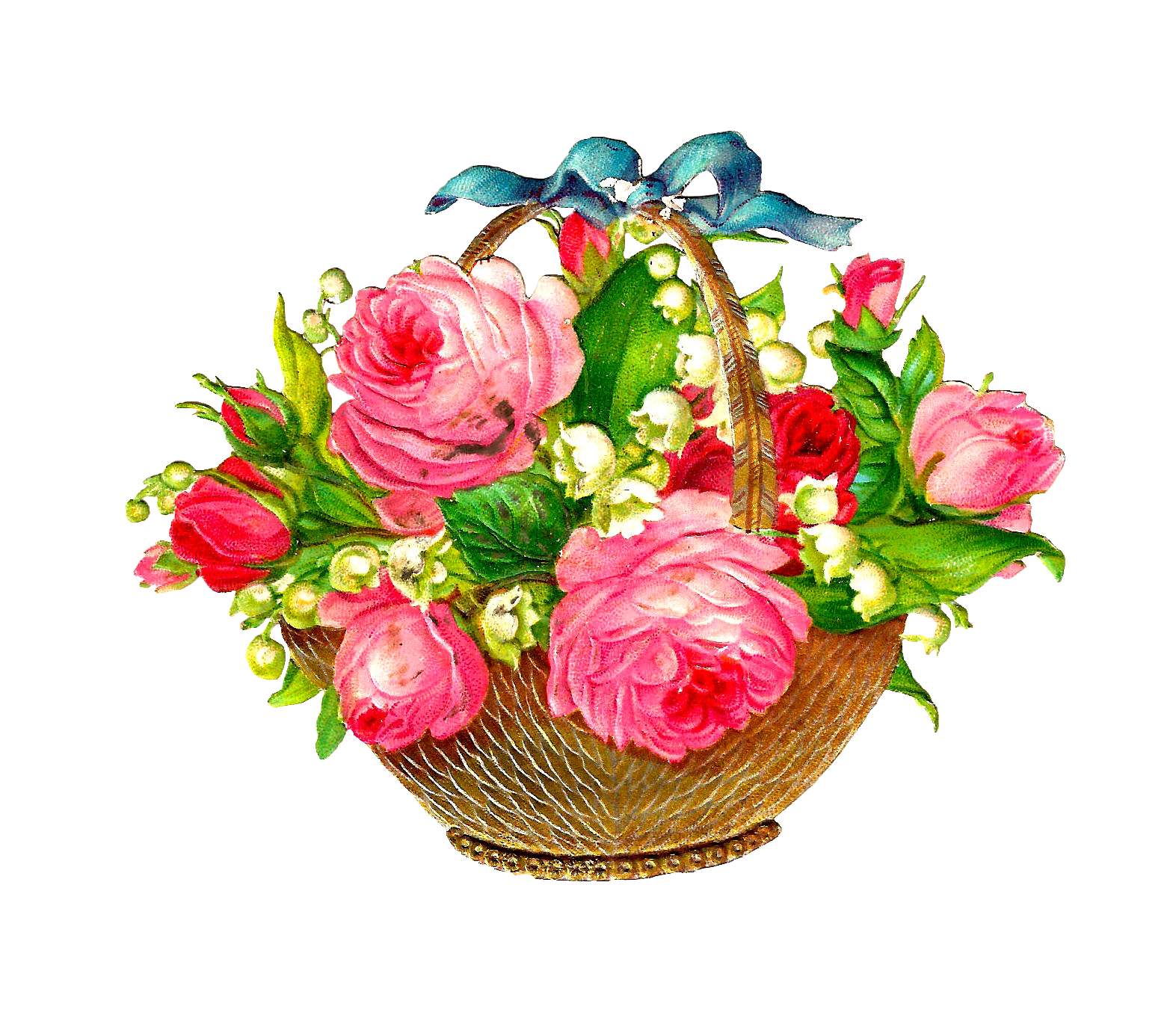 Flower Basket Clipart.
