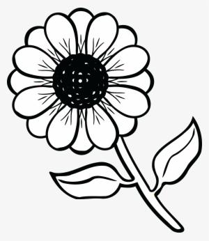 Black And White Flower PNG, Transparent Black And White Flower PNG.
