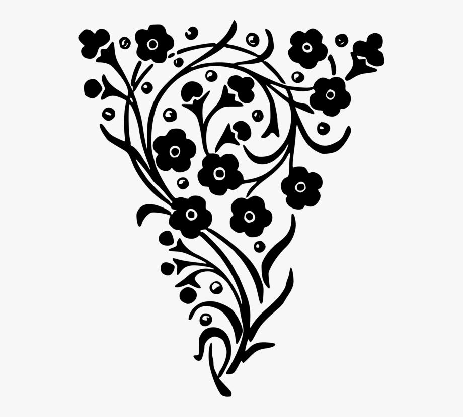 Floral Design Decorative Arts Flower Black And White.