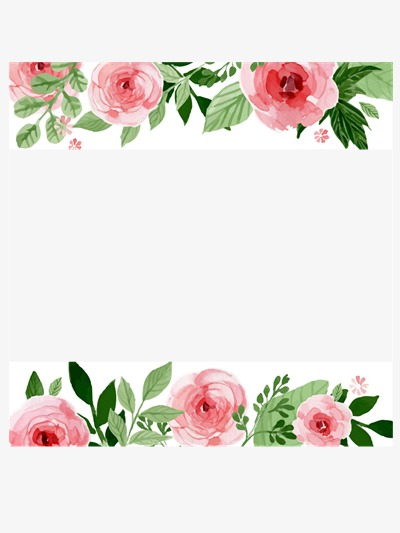 Beautiful Flowers Borders, Flowers, Frame, Pink PNG Transparent.