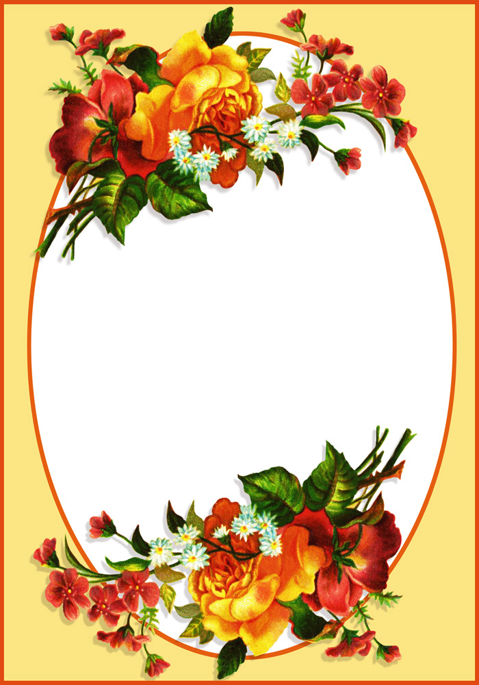 clipart flower borders and frames #10