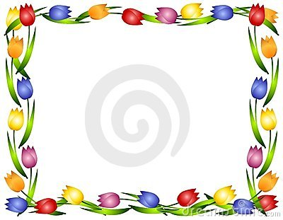 clipart flower borders and frames #8
