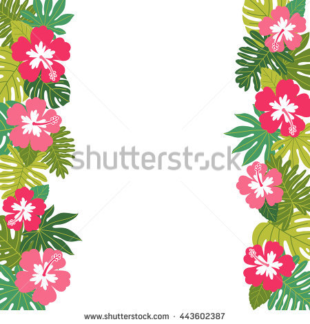 Tropical Border Stock Images, Royalty.