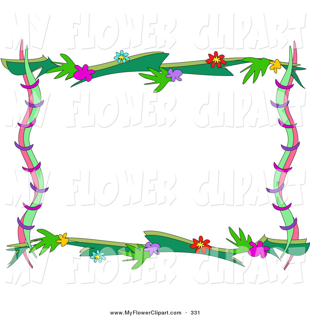 clipart flower borders and frames #5