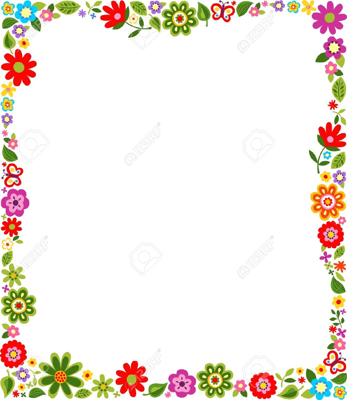free floral borders frames clipart.