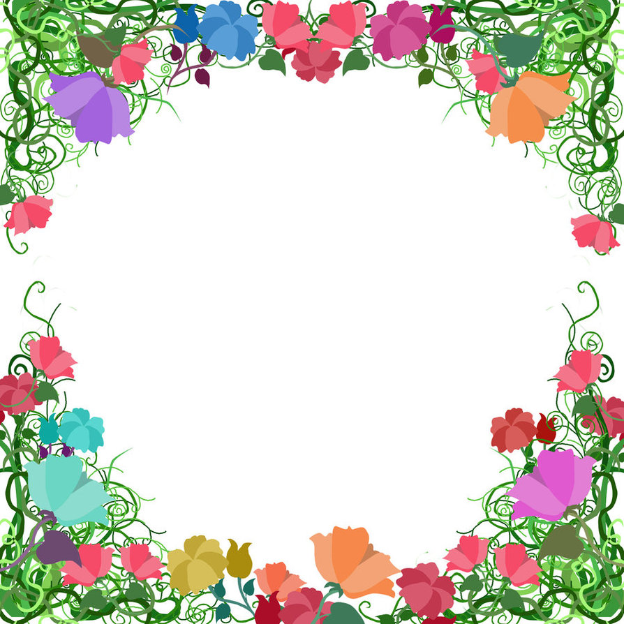 clipart flower borders and frames #13