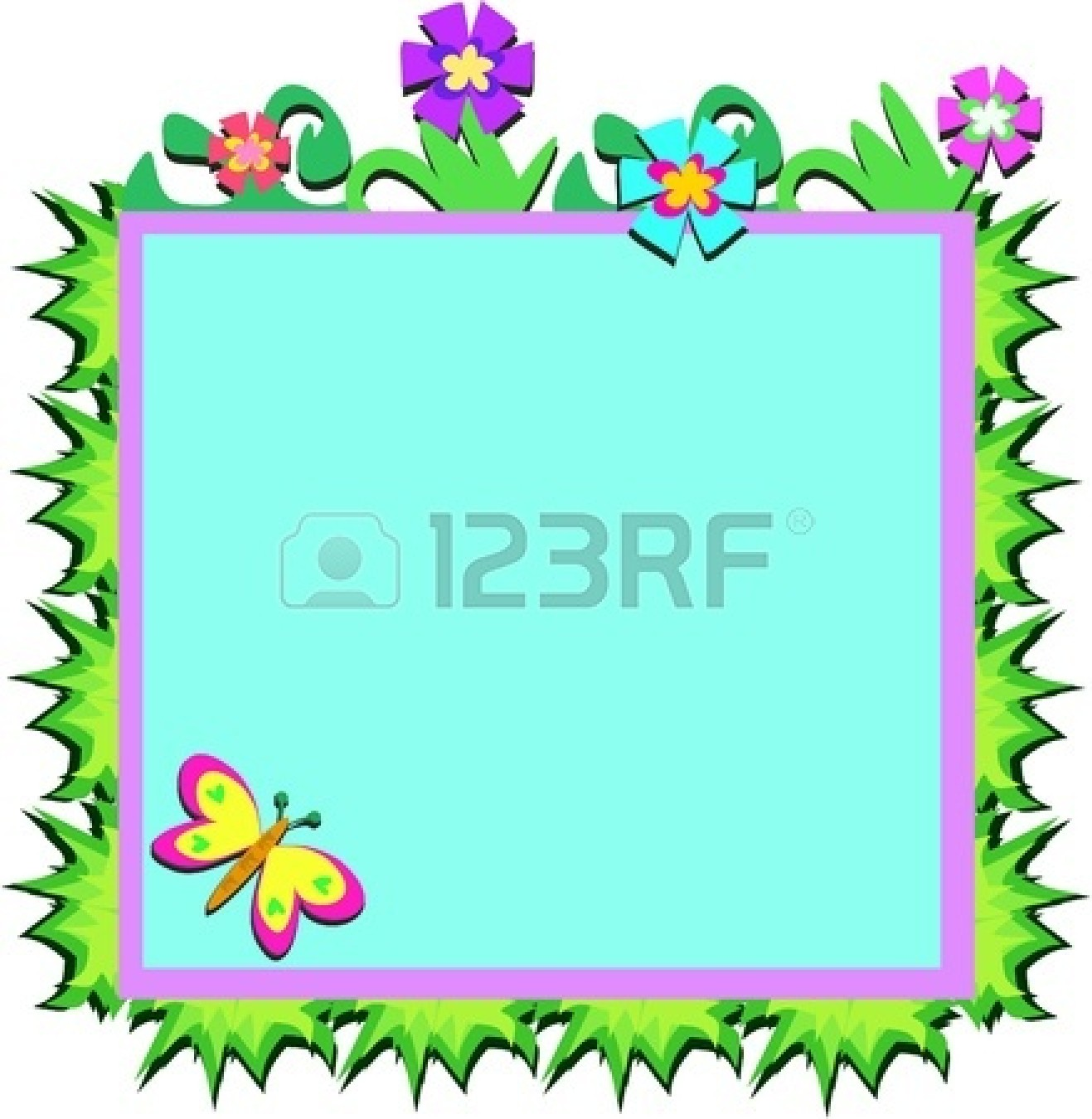 clipart flower borders and frames #14