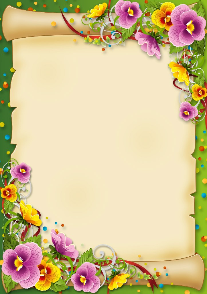 clipart flower borders and frames #9