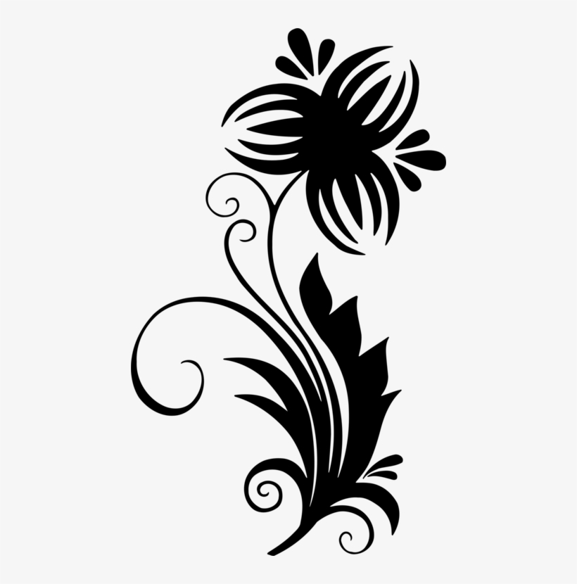 Floral Design Flower Drawing Leaf Line Art.