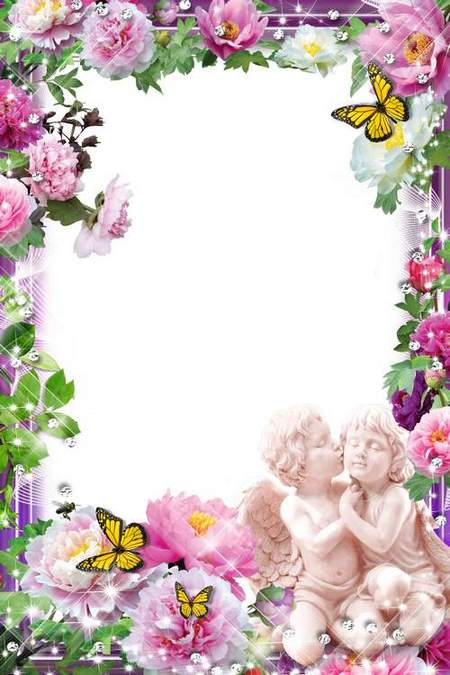 Flower frame for photoshop.