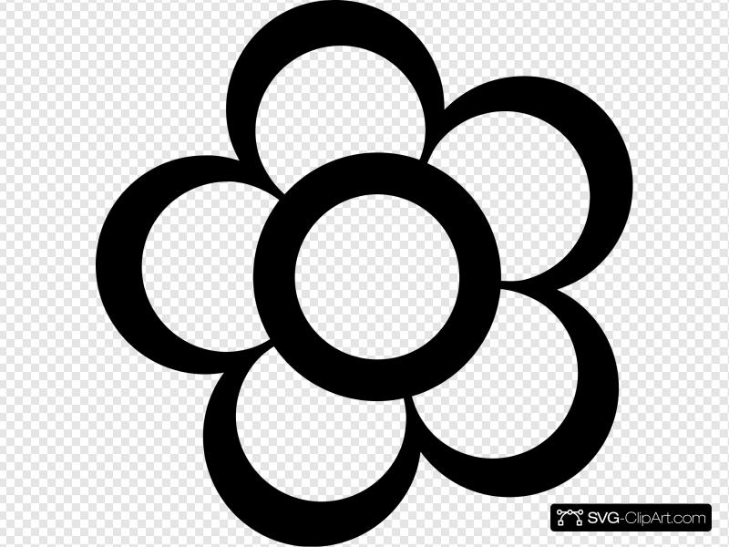 Flower Outline Clip art, Icon and SVG.