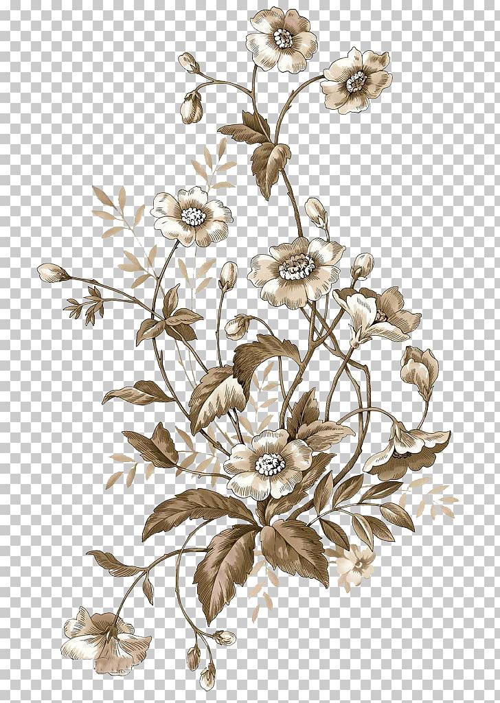 Flower Pastel, Pastel flower cluster flower pattern material.