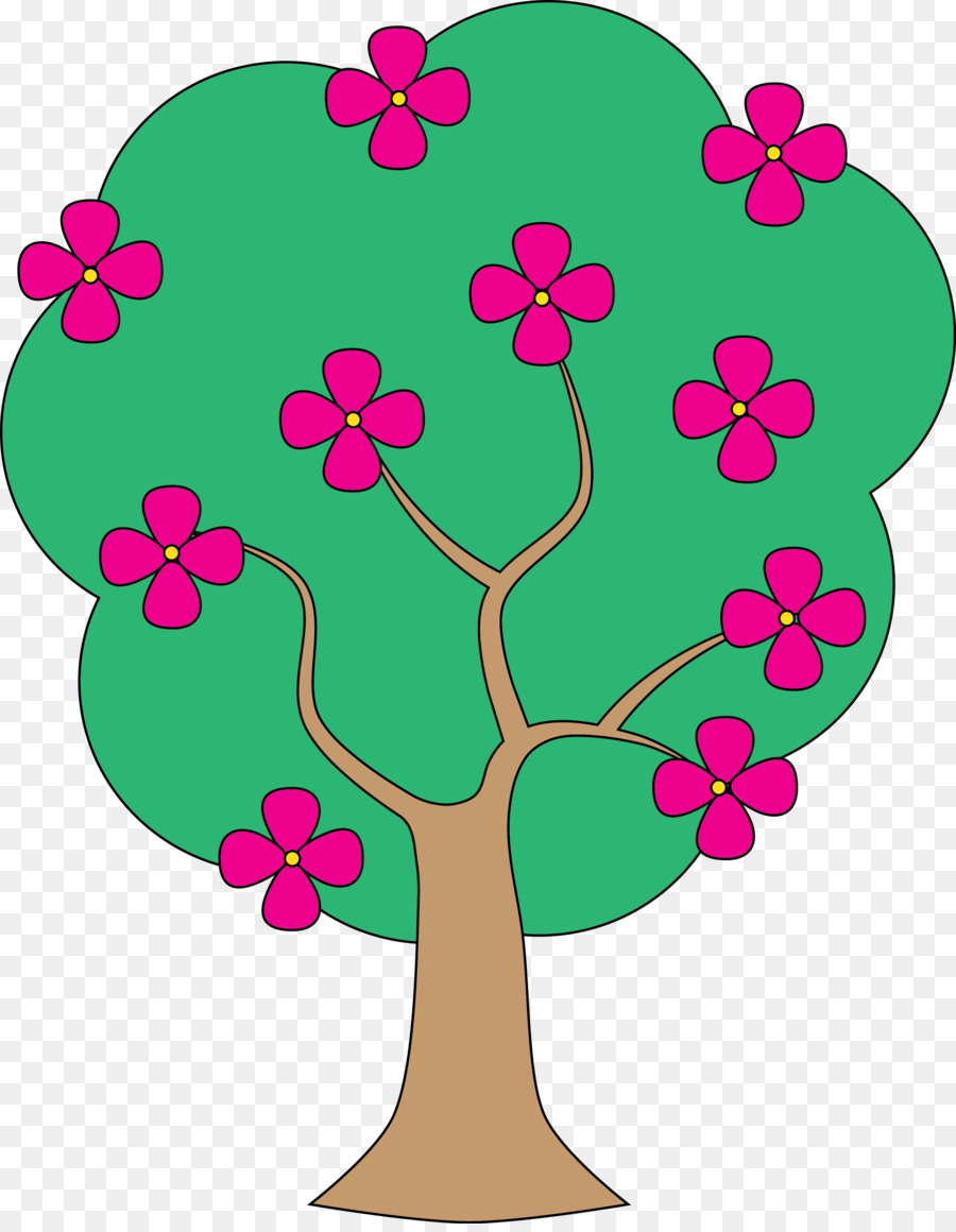 Pink Flowers Background clipart.
