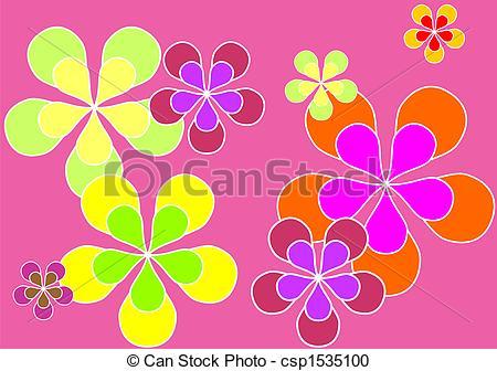 Stock Illustration of Flowers wallpaper.