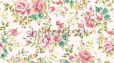 Vintage Flower Backgrounds Clip Art.