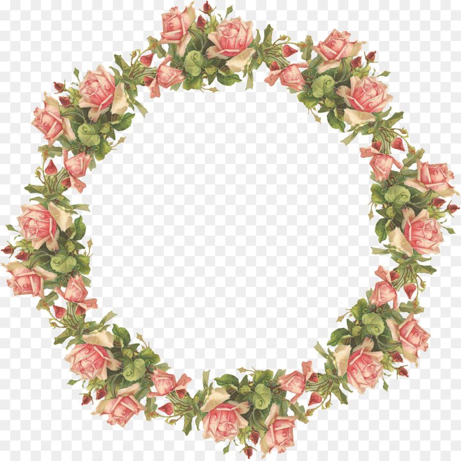 Floral Wreath Frame clipart.