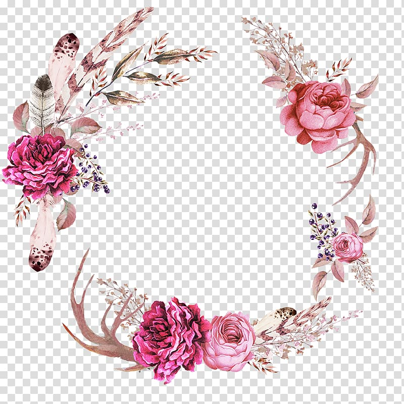Flower Wedding Blanket , flower wreath transparent.
