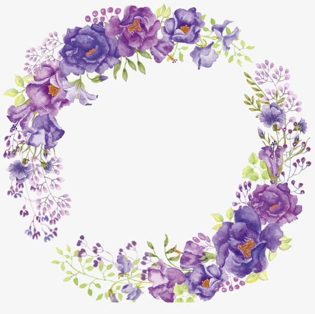 Purple Flower Wreath PNG, Clipart, Campanulaceae, Decoration.