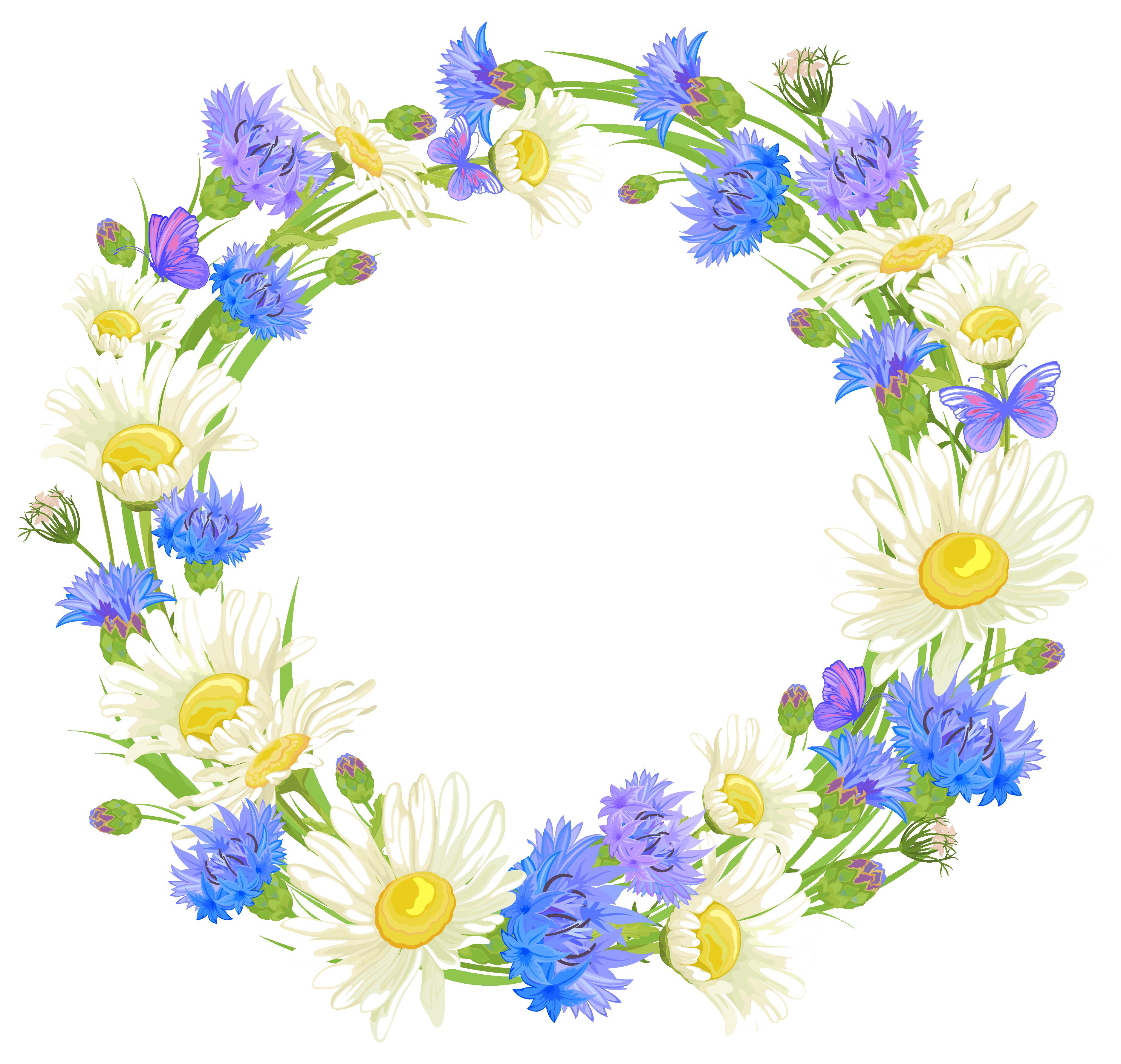 Floral Wreath Clipart Transparent Background.