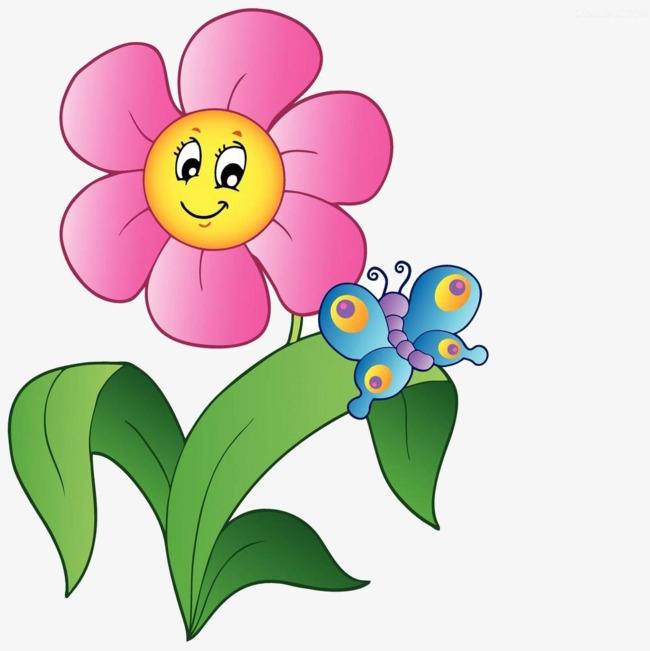 Butterfly clip art flower.
