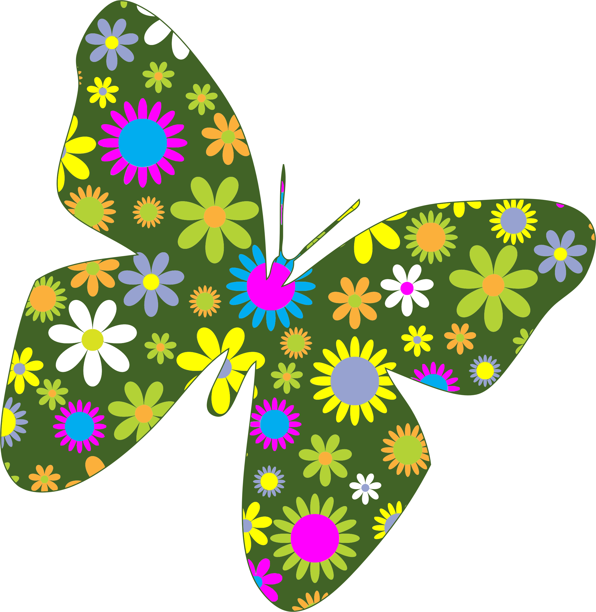 Clipart flowers and butterflies png 7 » Clipart Station.