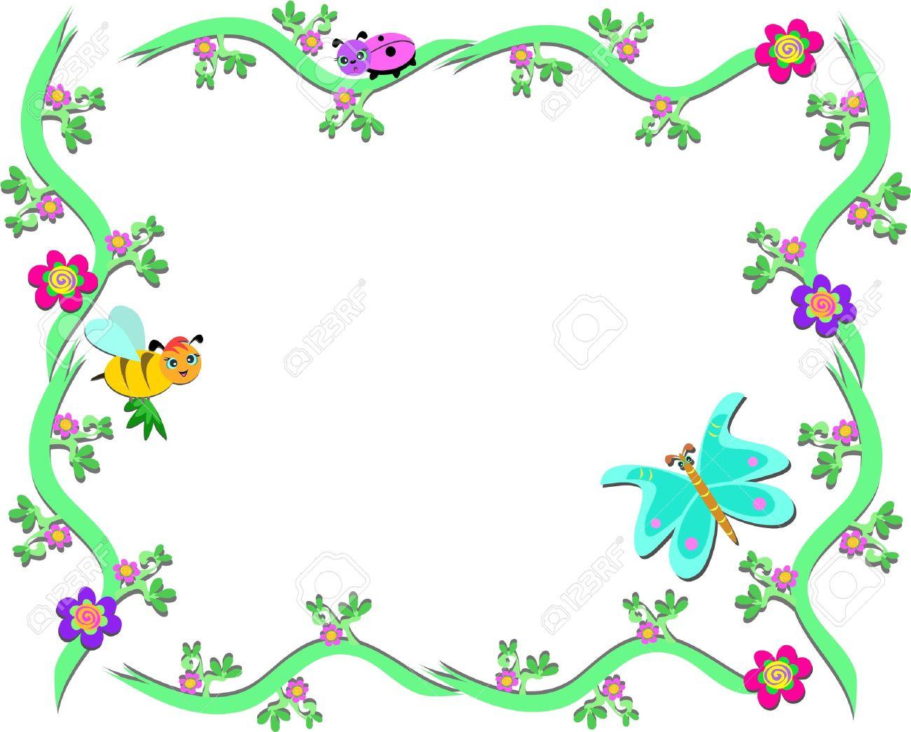Butterflies Clipart Border.