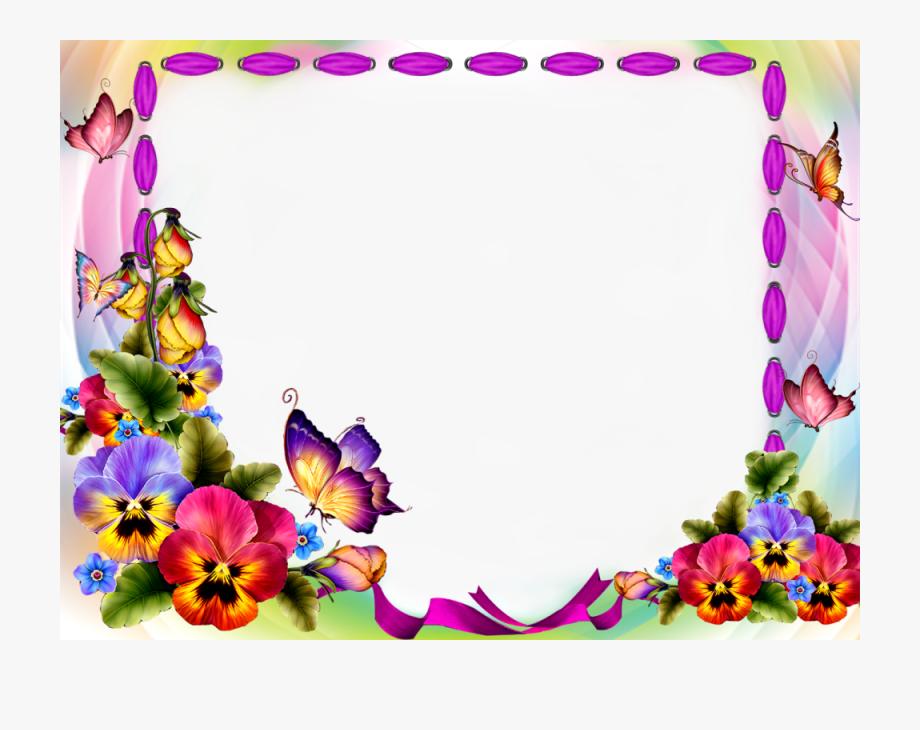 Download Red Flower Frame Transparent Background For.