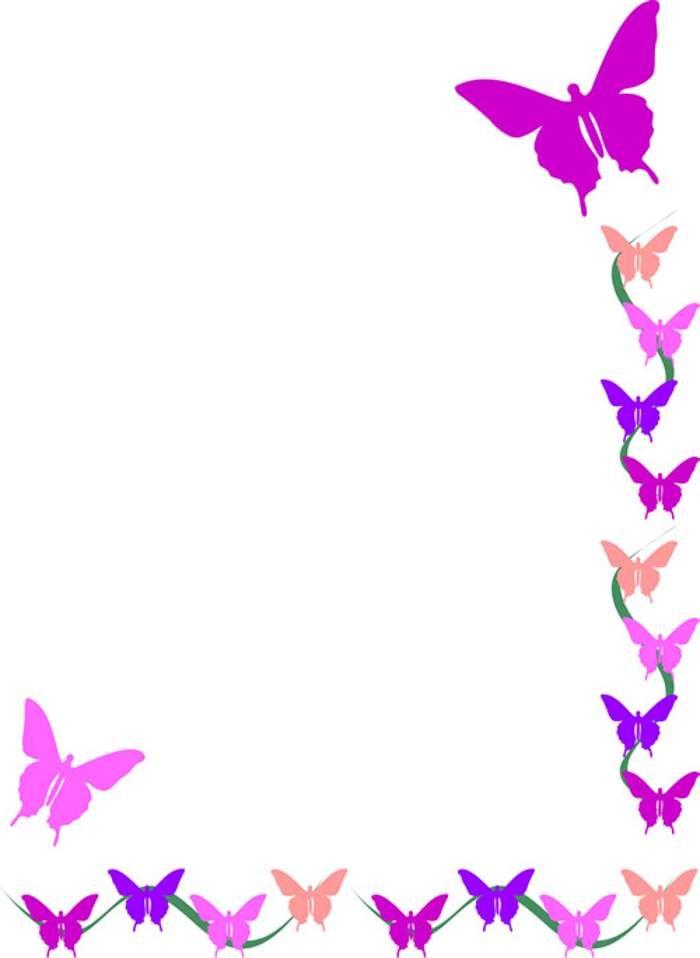 Flower border free butterfly ..