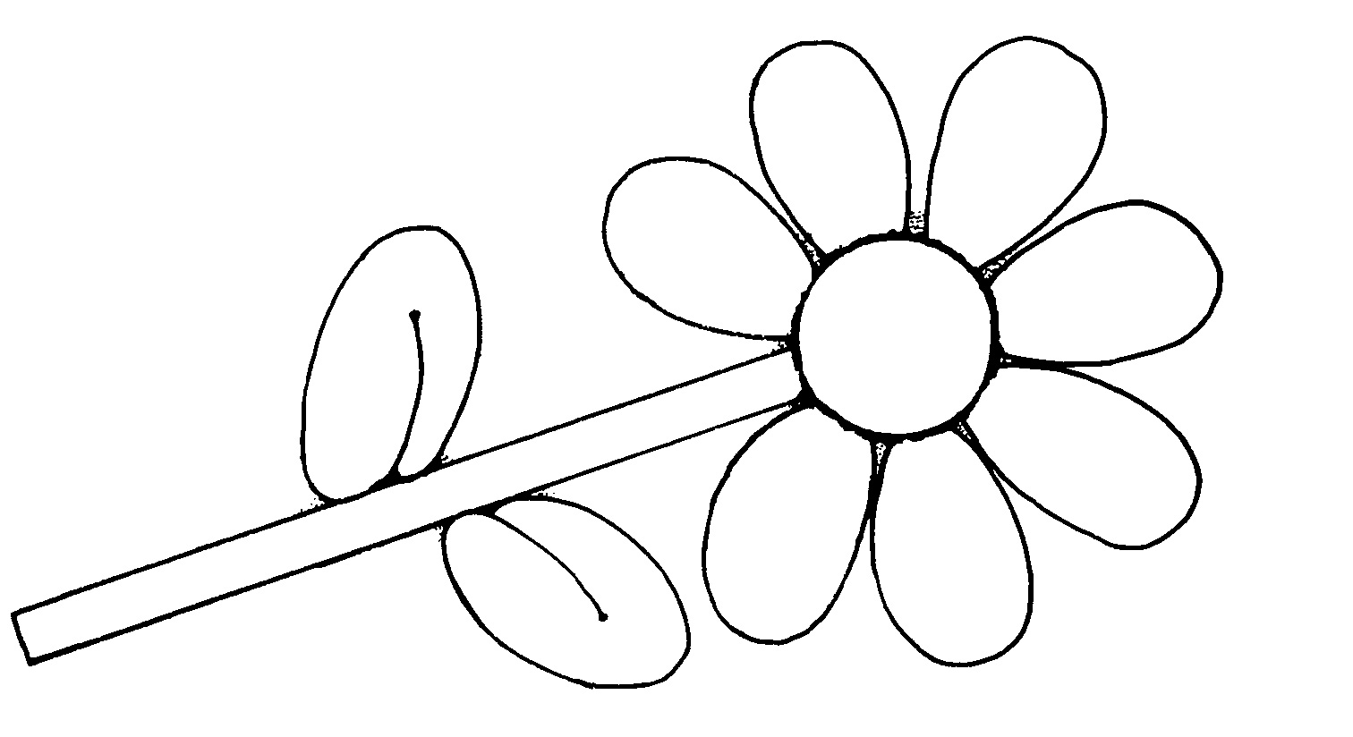 Flower Clipart Black and White Free Download.