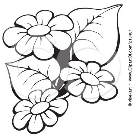 Flower Clipart Black And White Free.