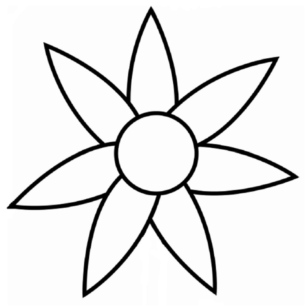 Flower Outline Clipart.