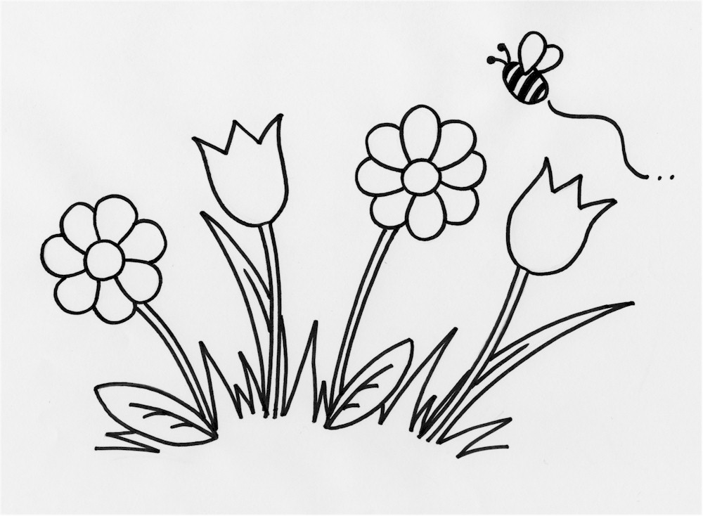 Free Flowers Drawing For Kids, Download Free Clip Art, Free.
